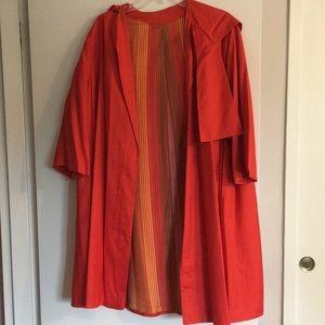Saks 5th Avenue Vintage 60s silk swing coat